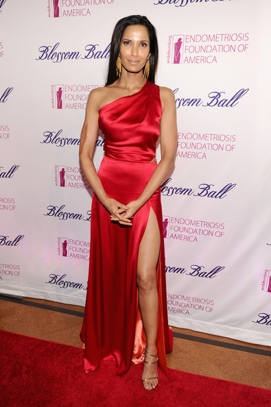 Padma Lakshmi Strappy Sandals [flooring,shoulder,carpet,joint,fashion model,gown,fashion,leg,dress,red carpet,padma lakshmi,tamer seckin,md - arrivals,583 park avenue,new york city,md,endometriosis foundation of america celebrates the 6th annual blossom ball,blossom ball]