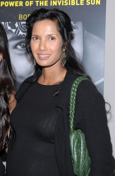 Padma Lakshmi Leather Shoulder Bag