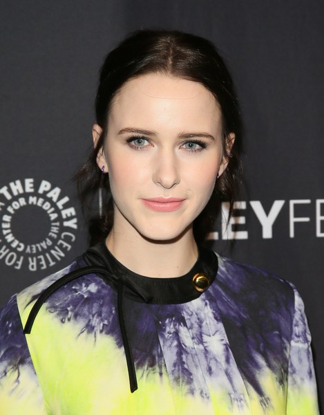 Rachel Brosnahan sported a casual ponytail at the 2019 PaleyFest LA presentation of 'The Marvelous Mrs. Maisel.'