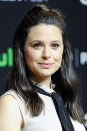 Katie Lowes looked cute with her half-up bun during PaleyFest Los Angeles.