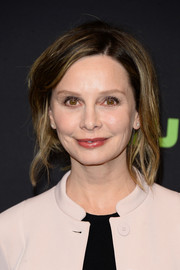 Calista Flockhart rocked a messy, loose updo while attending PaleyFest Los Angeles.