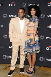 Tracee Ellis Ross looked downright fab in a candy cane-striped sequin dress by Naeem Khan during PaleyFest Los Angeles.