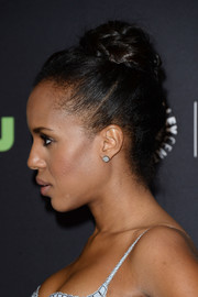 Kerry Washington swept her hair up into a classic braided bun for her PaleyFest look.
