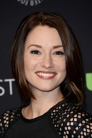 Chyler Leigh styled her hair into a sleek bob for PaleyFest Los Angeles.
