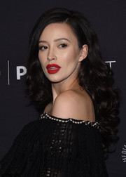 Christian Serratos looked gorgeous with her perfectly styled curls at the PaleyFest Los Angeles presentation of 'The Walking Dead.'
