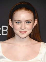 Sadie Sink kept it simple and youthful with this loose straight style during PaleyFest Los Angeles.