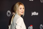 Kaley Cuoco attended PaleyFest Los Angeles wearing her hair in a loose, low ponytail.