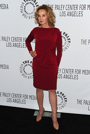 Jessica Lange looked phenom in this red cocktail dress for PaleyFest.