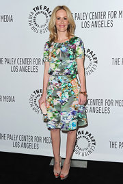 Sarah Paulson looked ready for spring in this floral cocktail dress at PaleyFest.