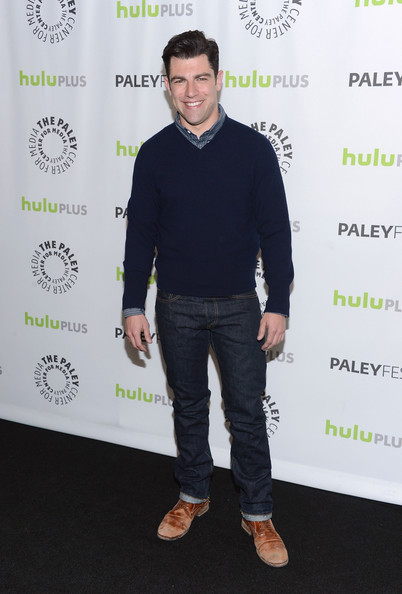 More Pics of Max Greenfield V-neck Sweater (1 of 2) - Max Greenfield Lookbook - StyleBistro