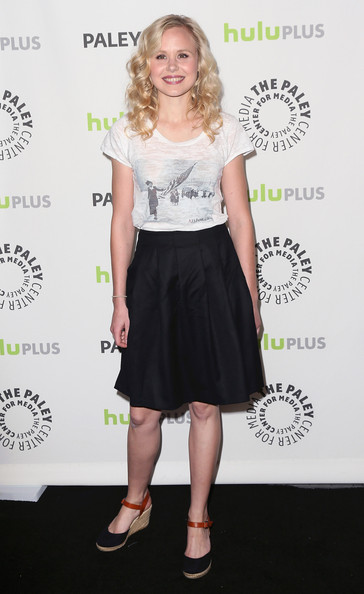 Alison Pill opted for a more casual look at PaleyFest when she wore this retro-inspired screen tee.