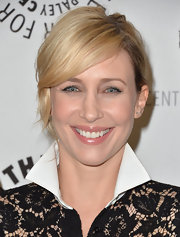 Vera kept her blonde locks looking sleek and stylish with a pinned updo.