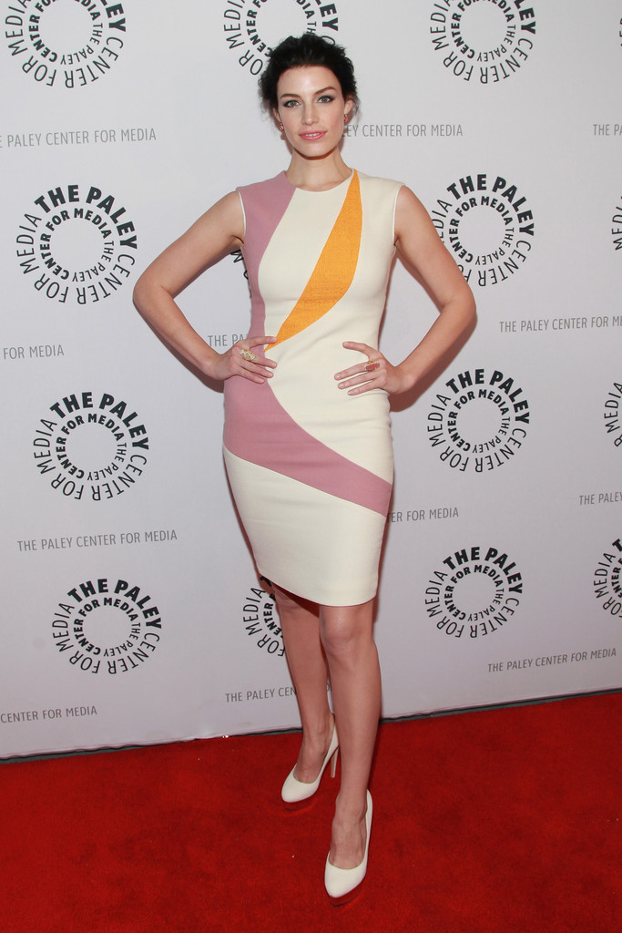 "Actress Jessica Pare attends The Paley Center for Media presentation of ""Mad Men"" season 5 at The Paley Center for Media on April 23, 2013 in New York City."