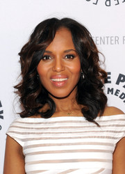 Kerry Washington looked very girly with her bouncy curls at the She's Making Media event.