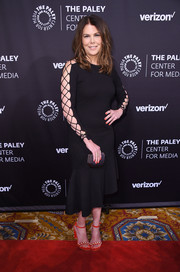 Lauren Graham gave us bondage vibes with this DAMA LBD with lace-up sleeves at the Paley Honors: Celebrating Women in Television event.