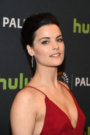 Jaimie Alexander wore her short hair slicked back when she attended PaleyLive NY.