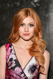 Katherine McNamara looked oh-so-pretty with her bouncy curls at the Pamella Roland fashion show.