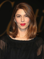 Sofia Coppola sported a perfectly styled lob at the Panthere De Cartier party.