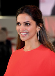 Deepika Padukone looked simply gorgeous wearing this half-up hairstyle at the European premiere of 'xXx: Return of Xander Cage.'