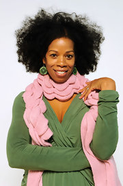 Kim Wayans was spotted wearing intricately designed earrings at the portrait session of Sundance Film Fest.