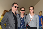 Marion Cotillard hid her eyes behind a pair of round sunnies while attending the Paris Eiffel Jumping event.