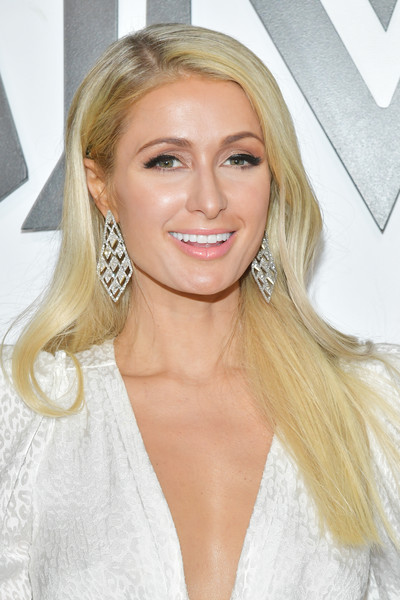 Paris Hilton Long Straight Cut [hair,blond,face,hairstyle,eyebrow,lip,chin,long hair,skin,beauty,arrivals,mcm global flagship store grand opening on rodeo drive,beverly hills,california,mcm global flagship store,paris hilton]