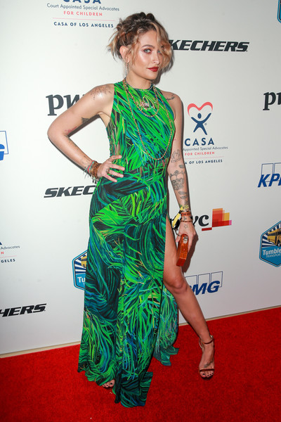 Paris Jackson Evening Sandals [clothing,red carpet,carpet,dress,fashion model,shoulder,cocktail dress,fashion,hairstyle,flooring,red carpet,paris jackson,casa,los angeles,beverly hills,california,the beverly hilton hotel,evening to foster dreams gala]