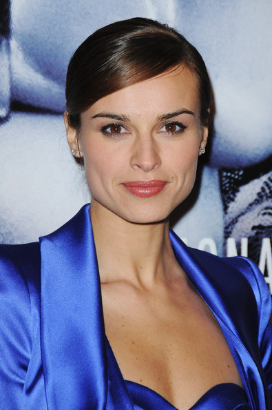 Kasia Smutniak styled her hair into a slicked-down updo for the premiere of 'From Paris with Love.'