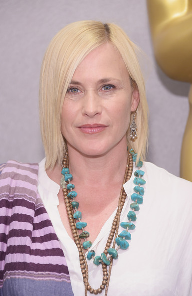 Patricia Arquette Side Parted Straight Cut