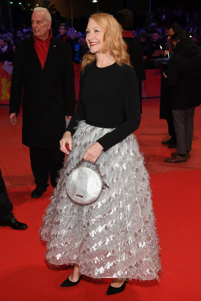 Patricia Clarkson Evening Dress [red carpet,carpet,premiere,flooring,dress,event,fashion,formal wear,outerwear,gown,patricia clarkson,berlinale palace,berlin,germany,opening ceremony isle of dogs,red carpet,berlinale international film festival,premiere,berlinale international film festival berlin]