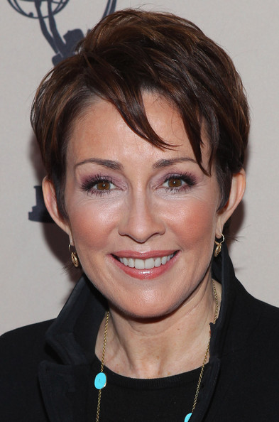 Patricia Heaton Layered Razor Cut [the middle,hair,face,hairstyle,eyebrow,chin,forehead,head,lip,cheek,layered hair,arrivals,patricia heaton,presentation,leonard h. goldenson theatre,north hollywood,california,academy of television arts sciences presents an evening with,academy of television arts sciences]