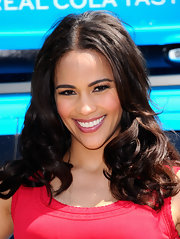 Paula Patton attended a Pepsi event wearing her shiny tresses in tousled loosed curls