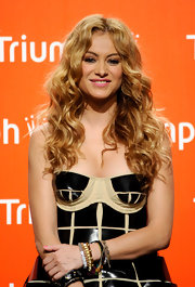 Singer Paulina Rubio showed off her red carpet worthy curls while attending an event in Madrid, Spain.