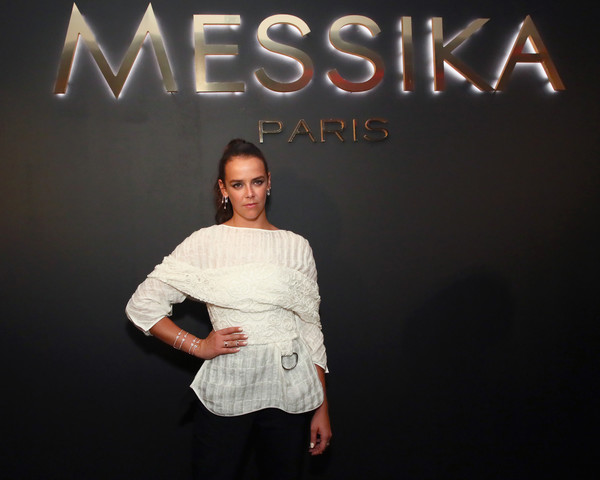 Pauline Ducruet Loose Blouse [messika party,nyc fashion week spring,gigi hadid new collection,milk studios,fashion,fun,font,photography,fashion design,sleeve,brand,style,fashion model,new york city,the messika,pauline ducruet]