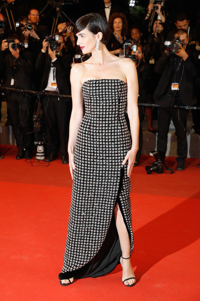 Paz Vega Strapless Dress [the fade,red carpet arrivals - the 70th annual cannes film festival,cannes film festival at palais des festivals on may 26,fashion model,red carpet,dress,clothing,carpet,shoulder,premiere,fashion,strapless dress,flooring,paz vega,nichts,cannes,france]
