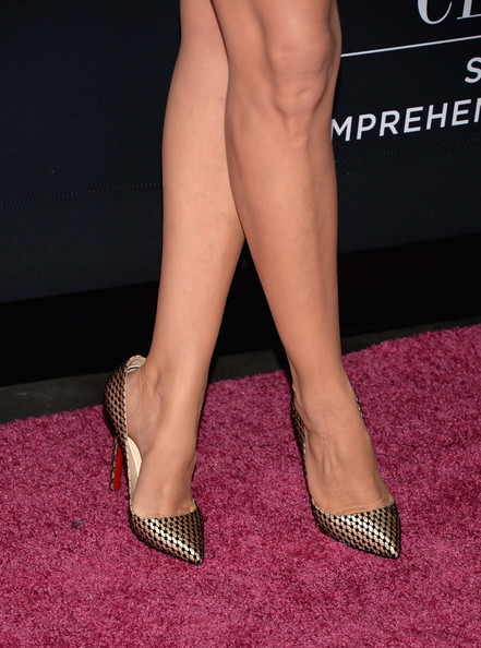 Paz Vega Evening Pumps