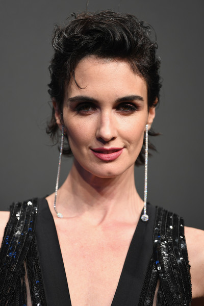 Paz Vega Messy Cut [hair,face,hairstyle,eyebrow,black hair,lip,chin,beauty,forehead,long hair,caroline scheufele,paz vega,rihanna,chopard space party - photocall,cannes,france,port canto,chopard space party,chopard,cannes film festival]