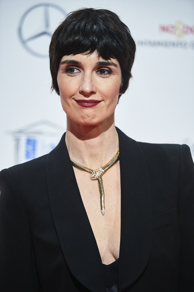 Paz Vega Gold Statement Necklace