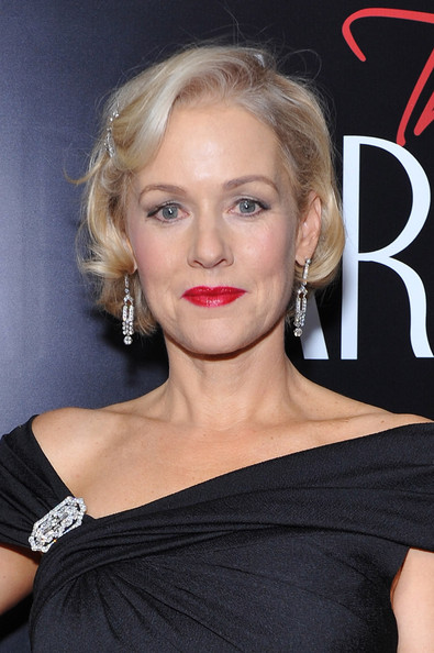 Penelope Ann Miller Curled Out Bob [hair,face,blond,hairstyle,lip,eyebrow,chin,beauty,shoulder,skin,penelope ann miller,new york city,paris theater,the artist,premiere,new york premiere]