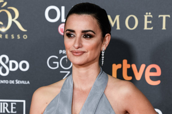 Penelope Cruz Classic Bun [hair,face,skin,eyebrow,shoulder,lip,hairstyle,beauty,chin,nose,penelope cruz,goya cinema awards,exposiciones fibes,seville,spain,palacio de congresos,red carpet,edition]