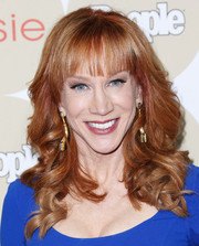 Kathy Griffin looked very feminine with her bouncy waves when she attended People's Ones to Watch party.