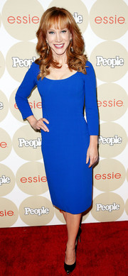 Kathy Griffin brought a bright jolt of color to the Ones to Watch party with this long-sleeve cobalt sheath.