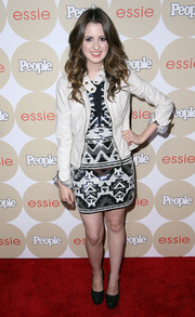 A white moto jacket finished off Laura Marano's look in edgy-chic style at the Ones to Watch party.