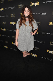 Jillian Rose Reed donned a simple gray shift dress for the Ones to Watch event.
