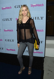 Astrid McGuire looked oh-so-hot in a sheer black button-down and skinny jeans at the People StyleWatch Denim Awards.