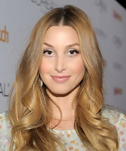 Whitney Port highlighted her polished locks with metallic silver shadow.