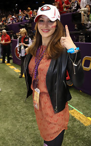 We know who Katharine McPhee is rooting for — it's written on her cap!