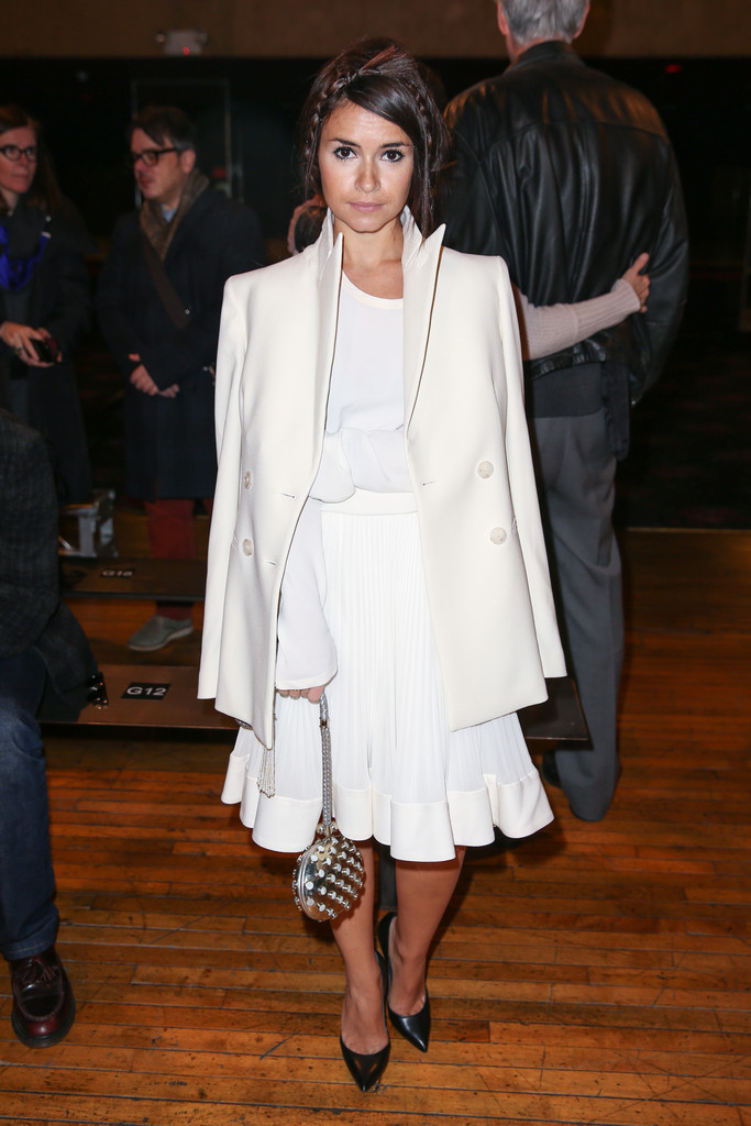 Miroslava Duma attends the Philosophy By Natalie Ratabesi fall 2013 fashion show during Mercedes-Benz Fashion Week at Roseland Ballroom on February 13, 2013 in New York City.
