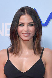Jenna Dewan-Tatum went for a center-parted, layered hairstyle when she attended the photo op for 'World of Dance.'