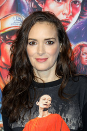 Winona Ryder rocked messy-chic waves at the 'Stranger Things' season 3 photocall.